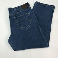 Lee Jeans Mens 40X30 Blue Relaxed Fit Straight Leg 100% Cotton Medium Washed