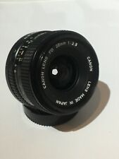 Canon FD fit 28mm f2.8 WIDE ANGLE LENS , PRIME LENS IDEAL For Film Users