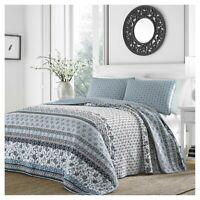 Light Blue Bexley Quilt Set - Stone Cottage Twin NEW