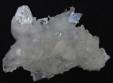 Cluster of pointed clear double terminated Apophyllite with Stilbite  # 5056
