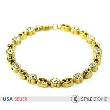 Fashion Women's Girl Golden H Logo Round Link Chain Stainless Steel Bracelet B29