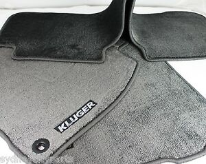 TOYOTA KLUGER CARPET FLOOR MAT SET GX GXL GRANDE DEC 13 - MARCH 21  GENUINE