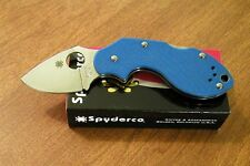 SPYDERCO New Blue G-10 Handle Lava Plain Edge VG-10 Blade Knife/Knives