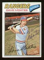 Dave Moates #588 signed autograph auto 1977 Topps Baseball Trading Card