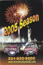 2005 BREVARD COUNTY MANATEES MINOR LEAGUE BASEBALL POCKET SCHEDULE