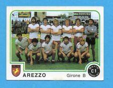 PANINI CALCIATORI 1980/81 - Figurina n.449- SQUADRA - AREZZO -NEW