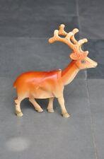 Vintage Orange Unique Boggle Head antelope / Reindeer Celluloid Figurine Toy