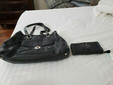 Coach Outlet Black Leather Purse and Matching Wallet