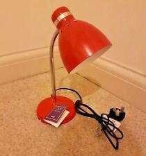 Tesco Live Red Metal Flexible Desk Table Lamp Office Lighting Reading Light 25W