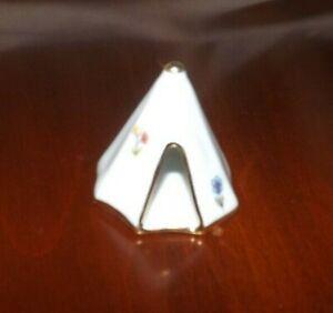 "Miniature Limoges France 1 3/4"" Tall Indian TEEPEE Tent"