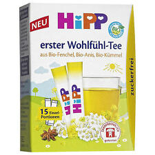 HiPP Wellness Tea for babies -ORGANIC -Made in Germany- 15 servings
