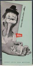 LEITZ Kleine  Blitzleuchte Dépliant / Brochure 1955  6 pages