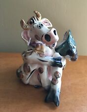 2001 Blue Sky Corp. - Cow Reading Book Figurine by Artist Heather Goldminc