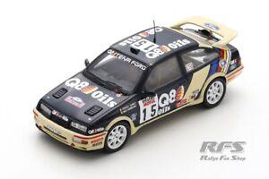 Ford Sierra RS Cosworth Rallye Tour de Corse 1989 Cunico Q8 Oils 1:43 Spark 8707