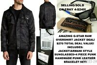 NWT/NEW MENS ROVER BLACK CAMOUFLAGE OSPAK G-STAR RAW OVERSHIRT JACKET-SZ=M+MORE!