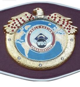 WBO Boxing Championship Belt Metal Plates Adult Premium Quality Leather Replica