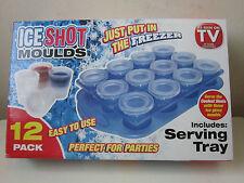 Nueva De 12 X Ice Shot Molde Moldes Vasos de chupito congelar parte