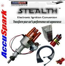 Ford Pinto AccuSpark Stealth Electronic Distributor,Black Leads,Sports Red coil