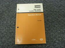 Case 590 Turbo Loader Backhoe Owner Operator Maintenance Manual Bur 9-18430