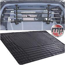 Durable Waterproof Rubber Car Boot Liner Mat + Deluxe Dog Barrier Bar Guard Set