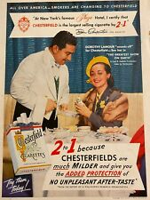 Dorothy Lamour, Chesterfield Cigarettes, Full Page Vintage Print Ad