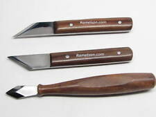 3 Woodworking Woodcarving Carpenters Marking & Striking Knives Angled