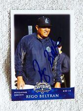 Cleveland Indians Rigo Beltran Signed 2014 Lake County Captains Auto Card QTY.