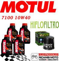 KTM LC4 SMC Supermoto 4T 625 2007 KIT TAGLIANDO 4 LT MOTUL 7100 10W40 + FILTRO