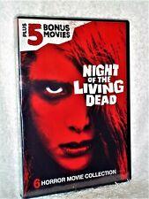 Night Of The Living Dead + 5 Bonus Movies (Dvd, 2018) New George A Romero horror