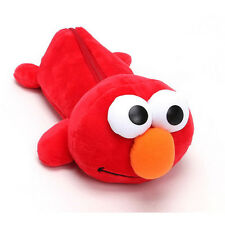 Sesame Street Plush Elmo Pencil Case Cute Red Pen Bag Stationery Child Teen