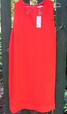 BNWT RRP$50 Smart Collection (18) Target LADIES SL SHIFT DRESS Red Poppy Fashion