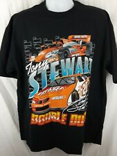 Vintage 1999 Tony Stewart Double Duty Nascar Indianapolis Black T-shirt Large