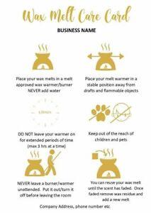 Wax Melt Safety Card