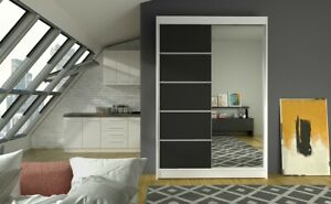 Modern Design High Quality 2 sliding door wardrobe LINO 120 cm Free delivery