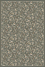 "2x8 Radici Green Leaves Vines Petals Bordered Runner 6674 - Aprx 2' 2"" x 7' 7"""