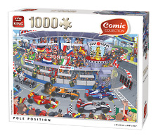 1000 Piece Funny Comic Jigsaw Puzzle Pole Position Formula One Racing Cars 05548