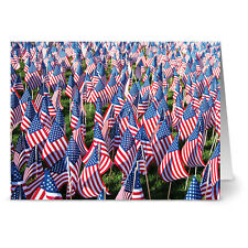 24 Note Cards - Memorial Day - Red Envs