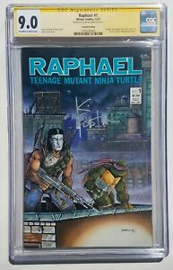 Raphael #1 2nd Print 1st Appearance Casey Jones CGC SS 9.0 Signed Kevin Eastman