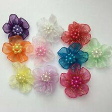 Organza Ribbon Flowers Bows Appliques Wedding Craft