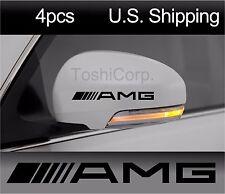 4 AMG Mercedes Benz Stickers Decals Door Handle Wheels Wing Mirror Black