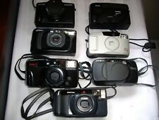 Camera's Assorted LOT OF 7 - Canon, Minolta,Olympus, Pentax