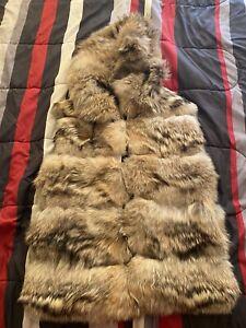 coyote fur vest