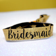 Bridesmaid (Gold) Hen Party Wristbands / Team Bride / Bride Tribe Accessories