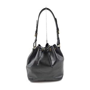Vintage Louis Vuitton LV Shoulder Bag M44102 Petit Noe Black Epi 1216729