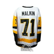 Evgeni Malkin Autographed Pittsburgh Penguins Custom White Jersey - BAS COA
