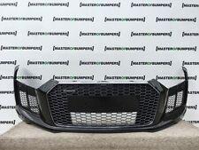 AUDI R8 V10 2016-Parachoques Delantero en Negro Nuevo Y Totalmente Completo Original [A265]