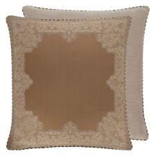 Croscill Montecarlo Reversible Embroidered Euro Pillow Sham Cognac Gold Brown
