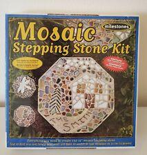 Milestones Mosaic Stepping Stone Kit, Makes a 12-Inch Stone. 3 Easy Steps.