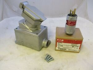 CROUSE HINDS ENRC21201 + ENP5201 EXPLOSION PROOF 20A 125V COMPLETE SET FEED THRU