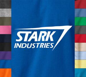 Tony Stark Industries Iron Man T-Shirt Workout Gym Fitness Ring Spun Cotton Tee